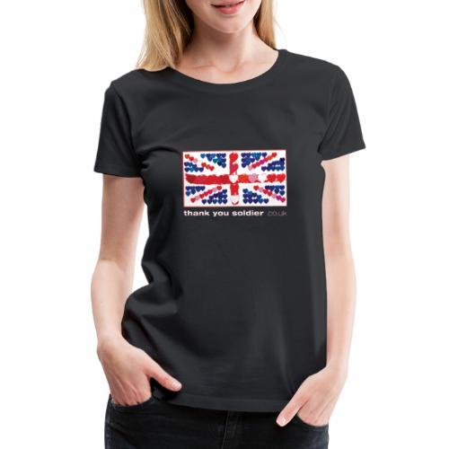uk heart flag1w - Women's Premium T-Shirt