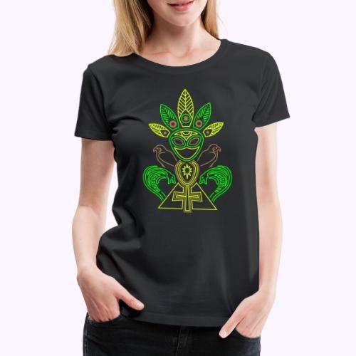 Ankhmania Alien - Camiseta premium mujer