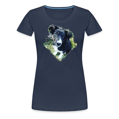 colliegermanshepherdpup - Women's Premium T-Shirt