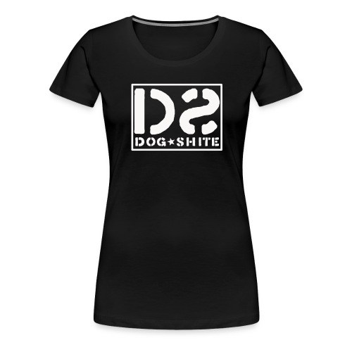 dstshirtlogowhite with border - Women's Premium T-Shirt
