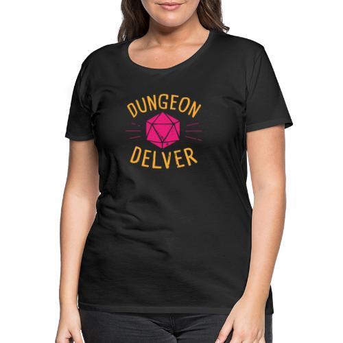 Dungeon Delver yellow pink - Women's Premium T-Shirt