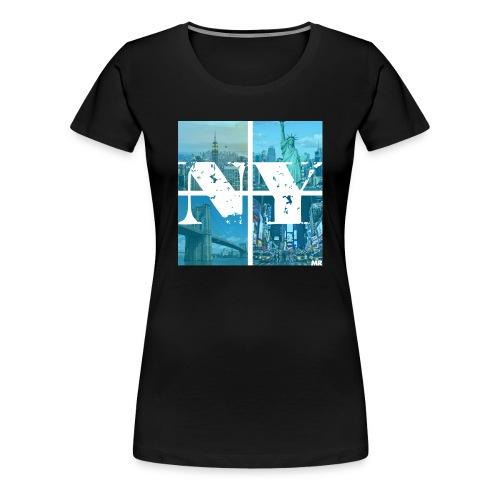 NEW YORK BLUE - Frauen Premium T-Shirt