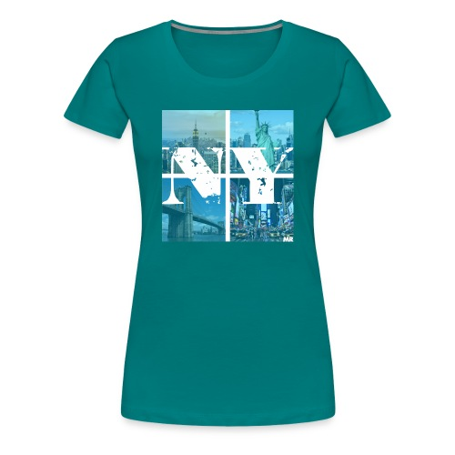 NEW YORK BLUE - Frauen Premium T-Shirt
