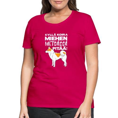 Pohjanpystykorva Metsaessae I - Naisten premium t-paita