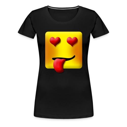 Love Face Square Tongue - Dame premium T-shirt
