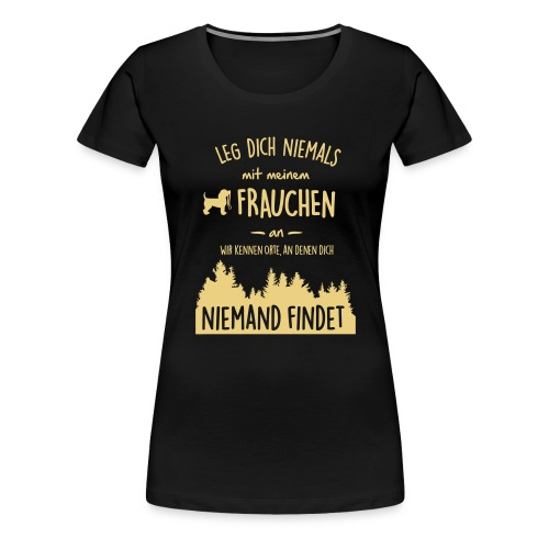 Vorschau: Mein Frauchen - Frauen Premium T-Shirt