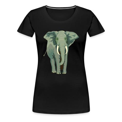 Elephant Illustration - Frauen Premium T-Shirt
