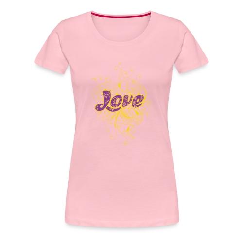 LOVE VIOLA CON DECORI - Maglietta Premium da donna