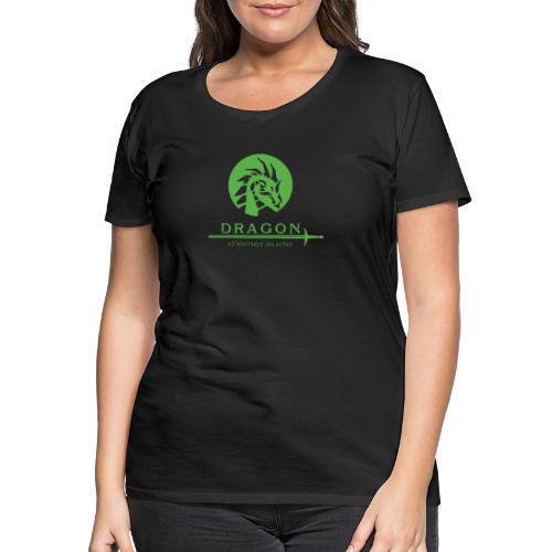 dragon d'émeraude vert - T-shirt Premium Femme