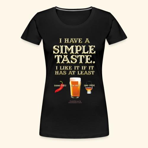 Whisky, Chili, Bier - Frauen Premium T-Shirt