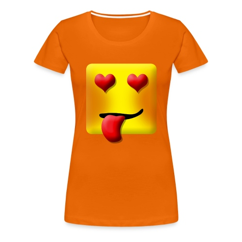 Love Face Square Tongue - Dame premium T-shirt