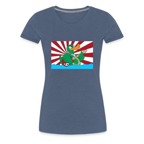 wild duck flagge mit linien - Frauen Premium T-Shirt