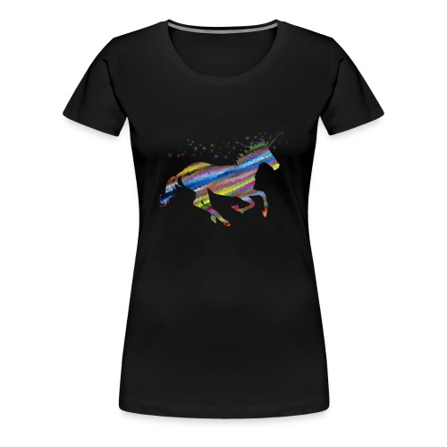 licorne multicolor - T-shirt Premium Femme
