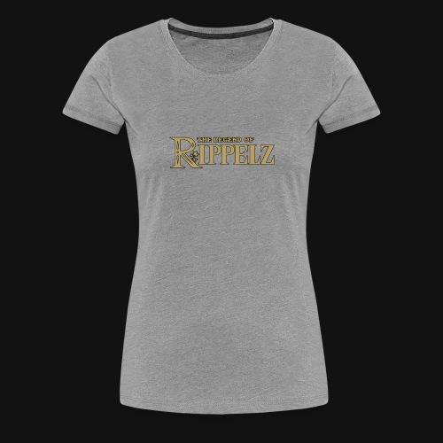 Rippelz - The Legend of Rippelz (Schriftzug only) - Frauen Premium T-Shirt