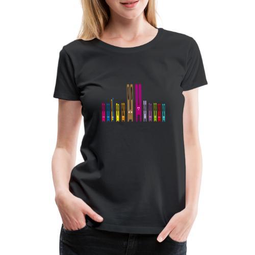 Lang ohr hasen Familie kaninchen häschen osterhase - Frauen Premium T-Shirt