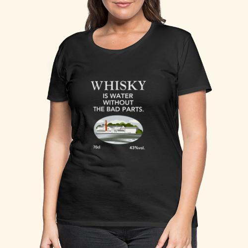 Whisky Is Water lustiger Spruch und Brennerei - Frauen Premium T-Shirt
