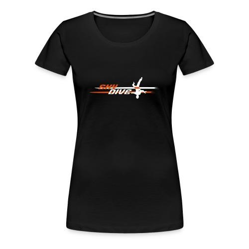 Skydive HeadDown Logo - zweifarbig - Frauen Premium T-Shirt