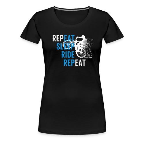 Eat Sleep Ride Repeat MTB w - Naisten premium t-paita