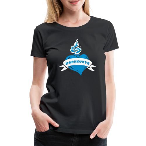 Nordkurve Herz - Frauen Premium T-Shirt