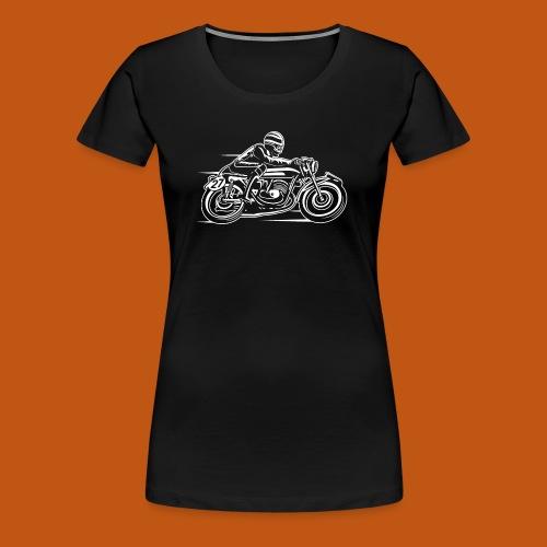 Cafe Racer Motorrad 03_weiß - Frauen Premium T-Shirt