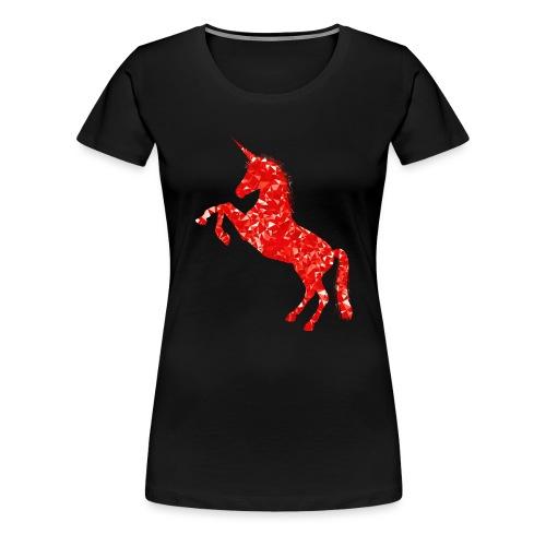 unicorn red - Koszulka damska Premium