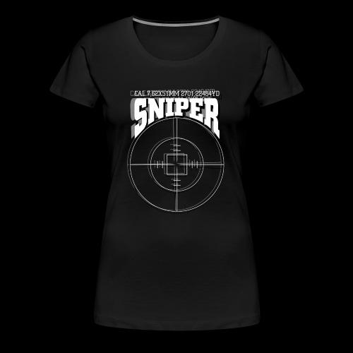 Sniper (białe) - Koszulka damska Premium