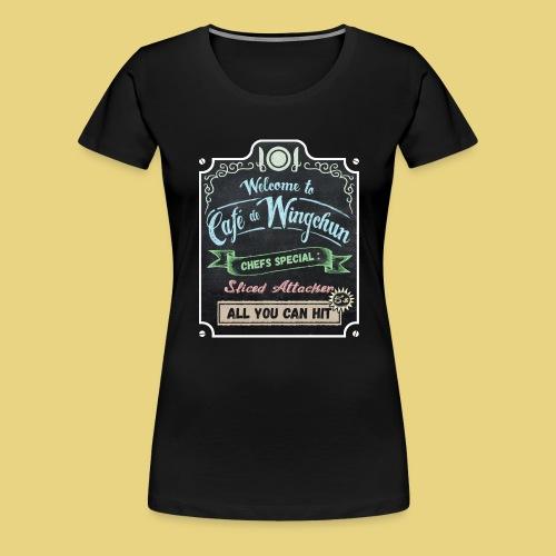 cafe de wingchun - Women's Premium T-Shirt