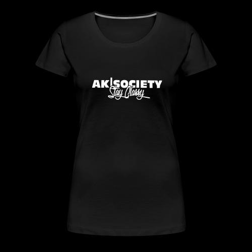 stay classy white png - Frauen Premium T-Shirt