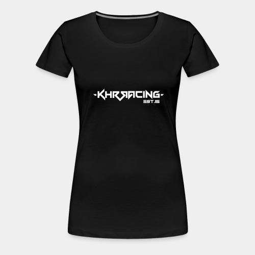 KHRRACING Schrift weiß - Frauen Premium T-Shirt
