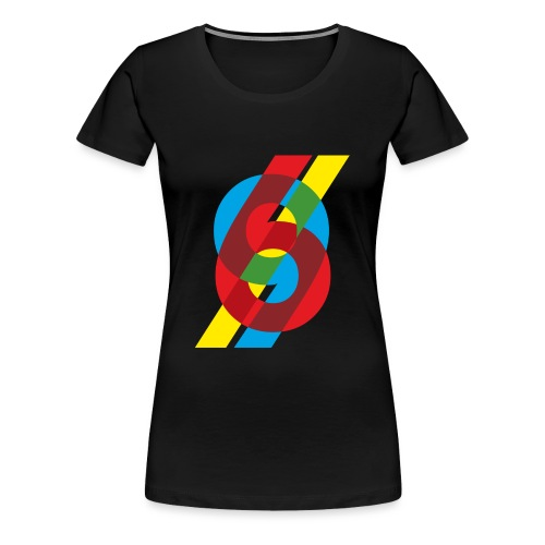 colorful numbers - Women's Premium T-Shirt