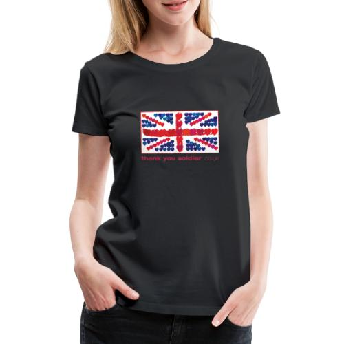 uk heart flag1 - Women's Premium T-Shirt