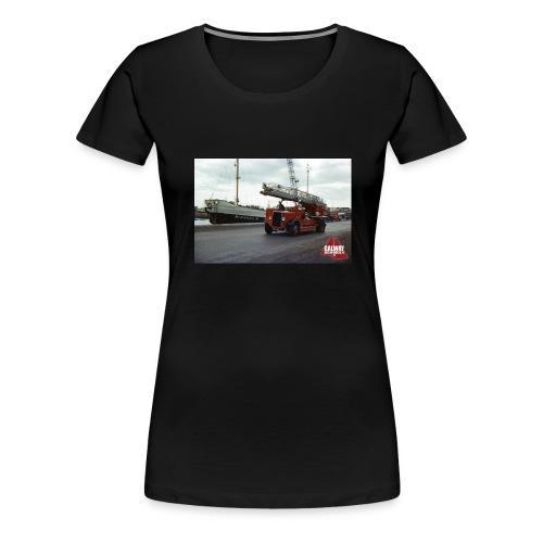 Fire Truck at Galway Docks 1970 - Women's Premium T-Shirt