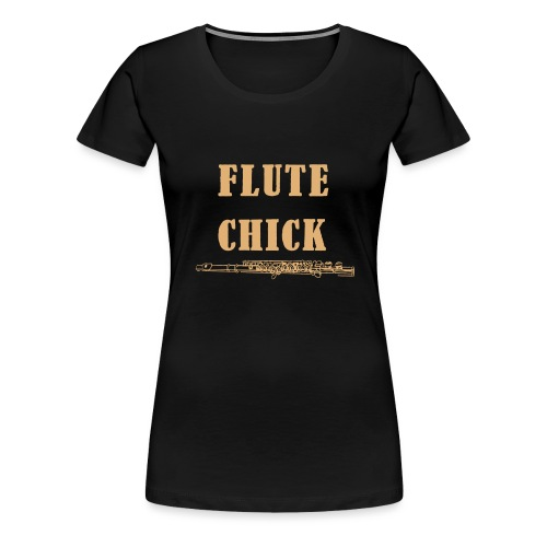 Flute Chick - Premium T-skjorte for kvinner