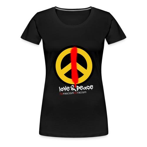 Love & Peace - Frauen Premium T-Shirt