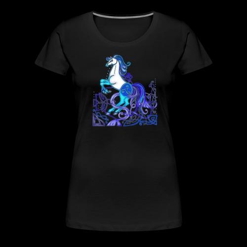 Celtic Horse Silver Blue - Women's Premium T-Shirt