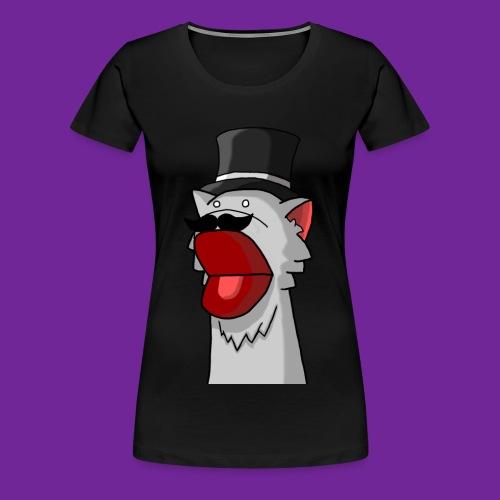 Katze mit Hut Handpuppe - Frauen Premium T-Shirt