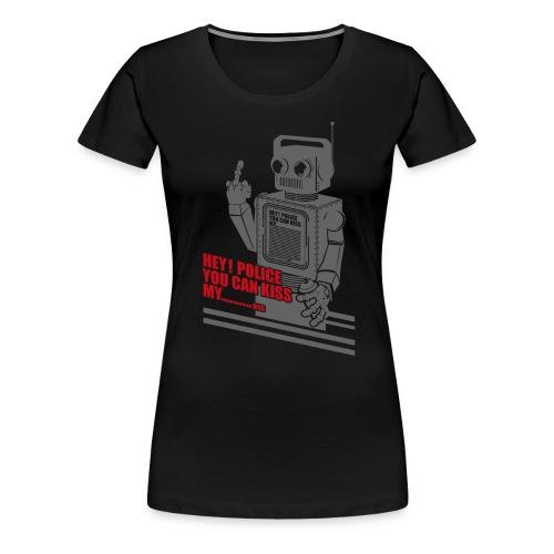 hey police dark knight - Dame premium T-shirt