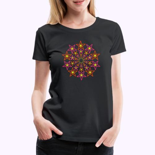fractal star 3 väri neon - Naisten premium t-paita