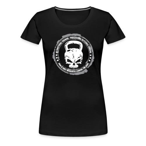 DARK_BKG_AB_KETTLEBELL - Maglietta Premium da donna
