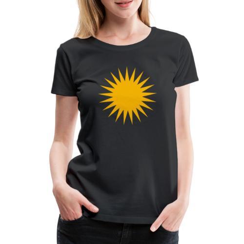 Kurdische Sonne Symbol - Frauen Premium T-Shirt
