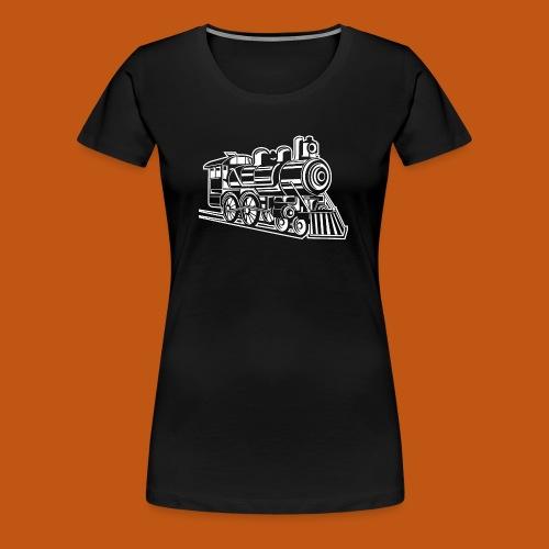 Lokomotive / Locomotive 01_weiß - Frauen Premium T-Shirt