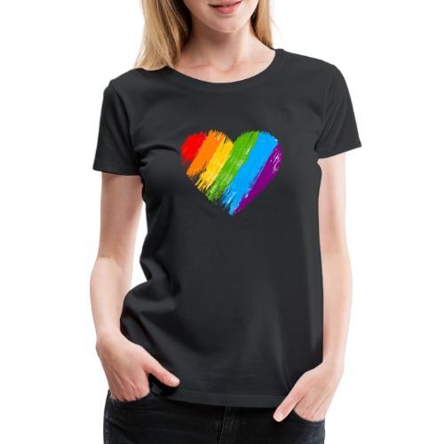 Pride, fram och bak, vit text - Premium-T-shirt dam