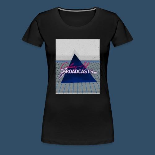 80s Distressed Design - Women's Premium T-Shirt