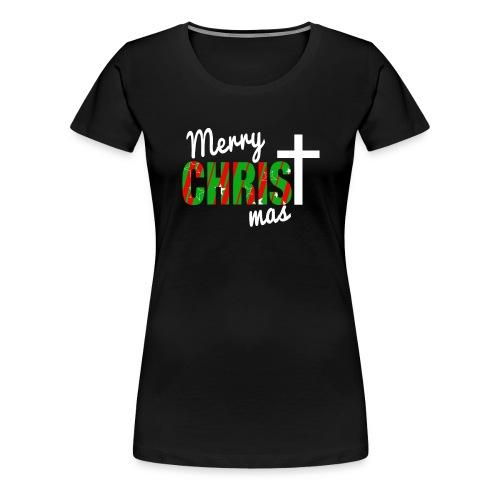 Merry Christmas Pattern - Women's Premium T-Shirt