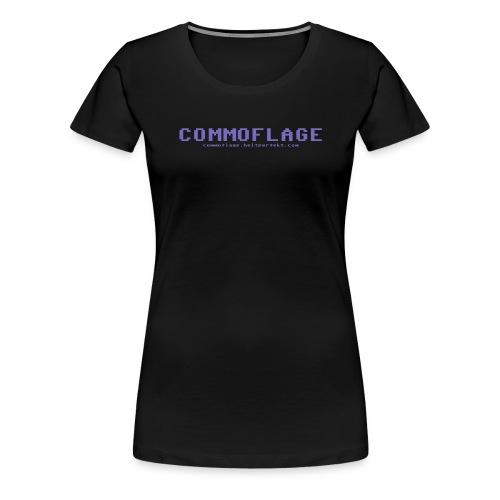 Commoflage t shirt logo blue png - Premium-T-shirt dam