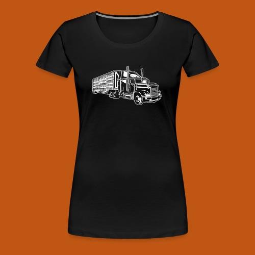 Truck / Lkw 01_weiß - Frauen Premium T-Shirt