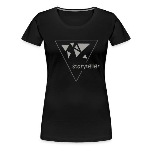 Storyteller Logo grau - Frauen Premium T-Shirt