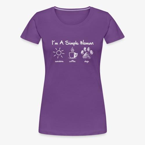 simple woman dog white - Frauen Premium T-Shirt