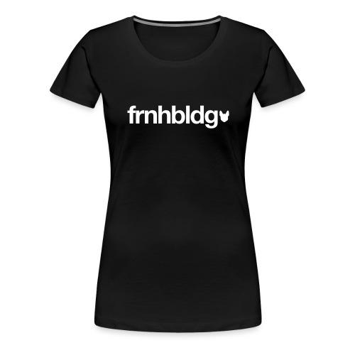 Französische Bulldogge Schriftzug mit Silhouette - Frauen Premium T-Shirt