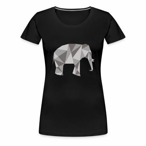elephant géométrique - T-shirt Premium Femme